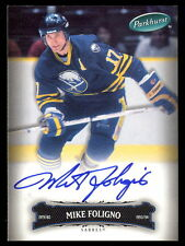 06 07 PARKHURST HOCKEY 62 MIKE FOLIGNO AUTO AUTOGRAPH SIGNED BUFFALO SABRES