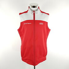 Adidas Audi Sport Softshell Teamweste Herren L Rot/Grau Motorsport Weste Fleece