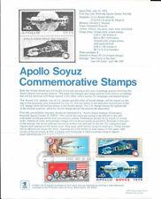 #1569-70 10c Apollo Soyuz Stamp Poster-Unofficial Souv Pg Fd HC w/Russian - Rare
