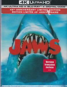 JAWS 45TH ANNIVERSARY 4K ULTRA HD & BLURAY & DIGITAL SET with Roy Scheider