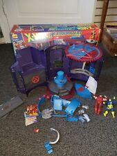 X-Men HEADQUARTERS Danger Room PLAYSET not complete Figure Set with Original Box