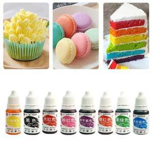 30ml Concentrated Edible Liquid Droplet Sugar Tint Food Colouring Cakes Ba hot.