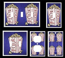 MOVIE POPCORN HOME THEATER # 8 LIGHT SWITCH COVER PLATE