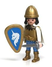 Playmobil Figure Fairy Tale Castle Unicorn Knight Helmet Sword Shield Cape 3896