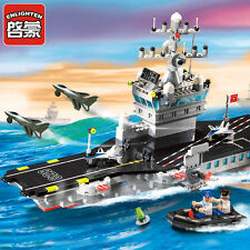 Military Aircraft carrier Warship model Lego Compatible Building Blocks Toy new