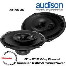 """Audison APX690 - 6"""" x 9"""" 2 Way Coaxial Shelf Speaker 600 Watts Total Power"""