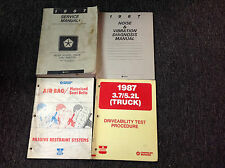 1987 Dodge Ram Van Wagon Service Repair Shop Workshop Manual RWD OEM Set