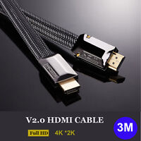 10FT Ultra HD V2.0 HDMI Cable 2160P 4K 3D Ethernet for Xbox Bluray PS4 LED HDTV