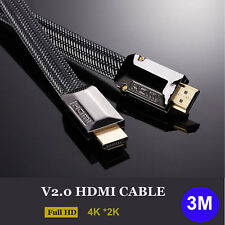 10FT High Speed V2.0 HDMI Cable 2160P 4K 3D Ethernet for UHD Bluray PS4 LED HDTV
