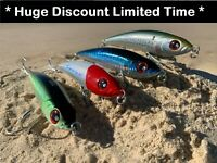 4 x Noeby Game Fishing Lures Poppers Stickbaits 160mm 98g Tuna Mackerel Marlin