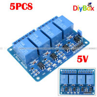 [5PCS] DC5V 4 Channel Relay Board Module Optocoupler for Arduino PIC ARM AVR DSP