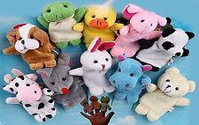 CHRISTMAS...AUS SELLER..VELVET ANIMAL FINGER PUPPETS - SET OF 10 pretend play