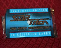 Star Trek The Next Generation Inaugural Edition Collector Card Pack 10 Cards