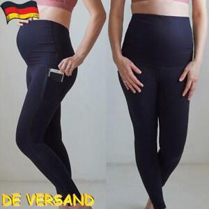 Umstandshosen Umstandsmode Leggings Schwangerschaftshose Taschen Hose Sports DE