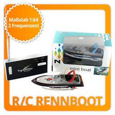 Ferngesteuertes Mini R/C Rennboot RC Modellbau Schiff Micro E-Boot RTF 1:64