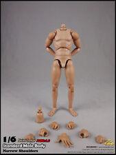 """12"""" COOMODEL 1/6 Muscle Male Body Figure F 1/6 Scale Man Head Sculpt Model BD001"""