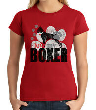 I love my BOXER JUNIOR'S T-shirt Loyal Energetic Dog GIRL'S Tee - 1741C