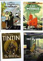 Carte Postale Tintin Lot de 8 cartes les aventures imaginaires de Tintin Série 2