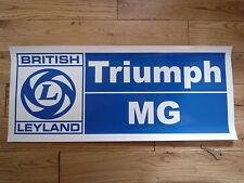 British Leyland TRIUMPH & MG groß Werkstatt AUFKLEBER Garage Zeichen & Wartung