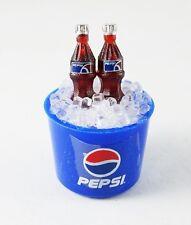 PEPSI BOTTLES IN ICE BUCKET FRIDGE MAGNET MINIATURE COLLECTIBLE DOLLHOUSE GIFT