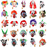 H&D Scary Latex Horror Clown Halloween Mask Masquerade Party Costumes Dress