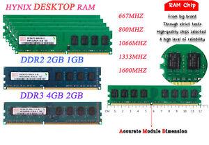 Hynix 4GB 2GB 1GB DDR2 DDR3 5300 6400 667 1600 Mhz DIMM RAM   Desktop Memory Lot