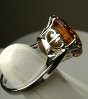 10ct *Orange Citrine* Solid Sterling Silver Filigree Ring Size [Made To Order]