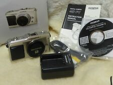Excellent Condition Olympus E-PL1 12.3MP MFT Digital Camera, Body Only, Silver