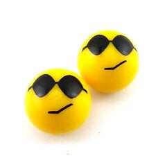 Sunglasses Cool Smile Expression Wheel Tire Valve Stem Cap Dust Cover For Suzuki