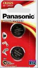 2 pile batterie CR2025 PANASONIC 3V litio CR 2025