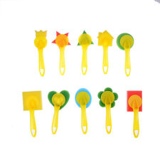Sponge Brushes Handle Paint Brushes Tools Children DIY Art IY