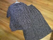 PURE SILK 3 PIECE SKIRT SUIT, SIZE APPROX  14