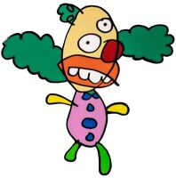 The Simpsons - Krusty the Clown Sketch Enamel Pin-IKO1498-IKON COLLECTABLES