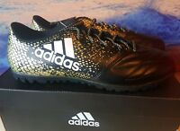 ADIDAS X 16.3 FOOTBALL FG BOOTS GOLD BLACK STELLAR SIZE 11.5 FREE P&P RM