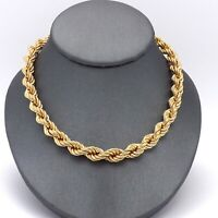 """New 18k Gold 750 Italy 6mm Round Rope Link Pendant Chain Necklace 24""""  29.3gr"""
