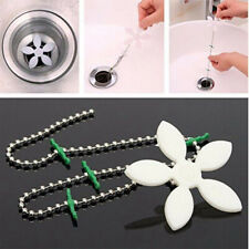 10pcs Hair Catcher Bathtub Chain Cleaner Clog Removal Shower Drains Strainer