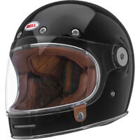 Bell Bullitt Retro Street Cruiser Motorcycle Helmet Solid Gloss Black Large