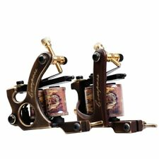 Dragonhawk 2 Brass Tattoo Machine Straight Shader Circle Liner with 2 Grips