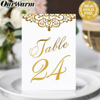 25Pcs/Set Double Side Paper Table Place Card Table Number Holder Wedding Favors