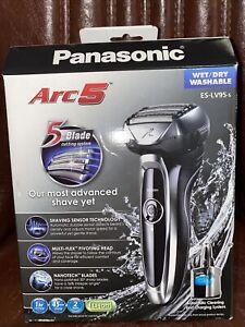 Panasonic Arc5 Electric Razor 5-Blade Shave Sensor Wet/Dry ES-LV95-S Silver