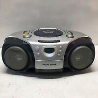 Vintage Philips Magnavox CD Radio Cassette Recorder Boombox AZ2000 Tested Used