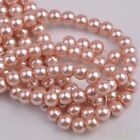 50pcs 8mm Pearl Round Glass Loose Spacer Beads Jewelry Making Aqua Red