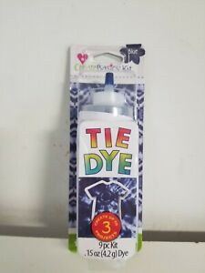 Create Basics Tie Dye 9 Piece Kit BLUE Create Up To 3 Projects Free Shipping