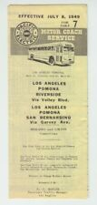 [72037] 1949 Pacific Electric Motor Coach Service Los Angeles Area Timetable
