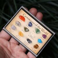 12 Stones Polished Healing Crystal Natural Gemstone Collection Stone Kit Set