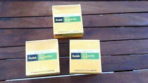 3 Kodak Tri-x 7278 Super 8 Cartridge TXR 464  50 ft 15m.black& white. 🆕 sealed.