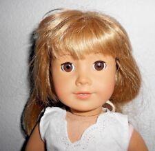American Girl Doll Blonde Bangs Brown Hair Orange Gardening Skirt Shirt Leotard