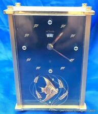 LECOULTRE ANGEL FISH 8 DAY DATE MUSICAL ALARM BOUDOIR MANTLE CLOCK 2173 SERVICED