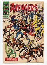 1967 MARVEL AVENGERS #44 (2) ORIGIN OF THE BLACK WIDOW VF- 7.5  E7