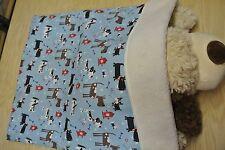 New listing Snuggle Sack Burrow Blanket Boston Terriers Chihuahuas Flannel Sherpa 28x20